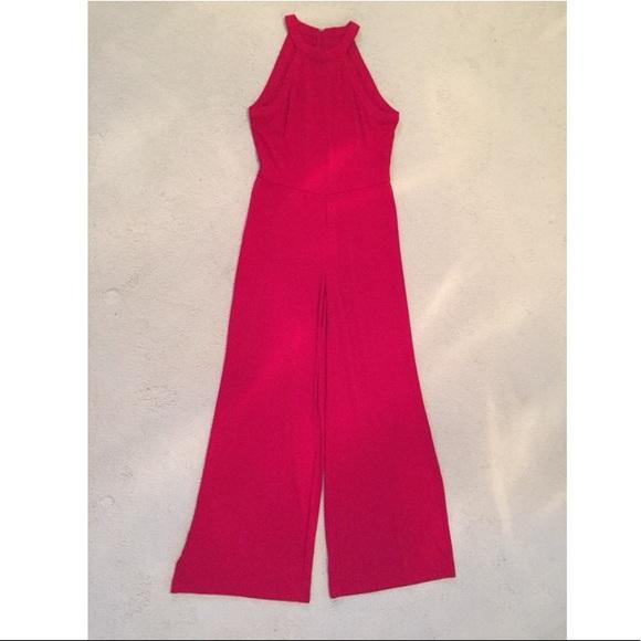 Ralph Lauren Pants Cherry Red Jumpsuit With Wide Leg Poshmark